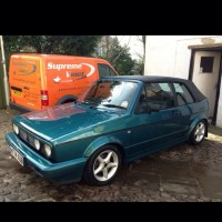 Mk1 golf cabriolet for sale. Capri green, new hood, good year tyres. Owned for 13 years,